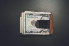 Money clip with cash.